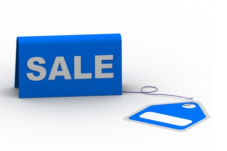 Highly rendering of sale tag in white background Stock Photo - 8588314