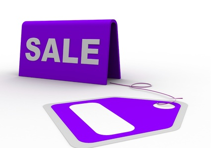 Highly rendering of sale tag in white background Stock Photo - 8588328