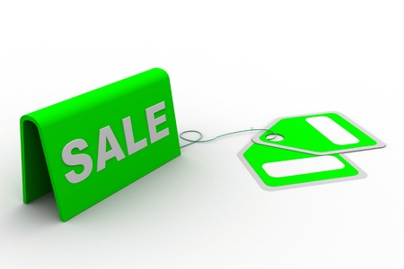 Highly rendering of sale tag in white background Stock Photo - 8588313