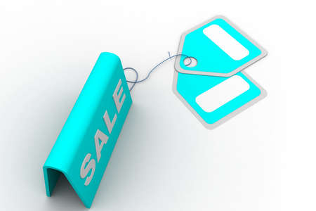 Highly rendering of sale tag in white background Stock Photo - 8588319