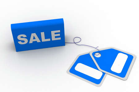 Highly rendering of sale tag in white background Stock Photo - 8588318
