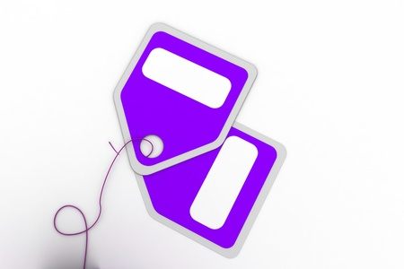 Highly rendering of sale tag in white background Stock Photo - 8588315