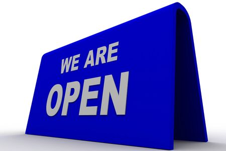 we are open sign in white background Stock Photo - 8588293