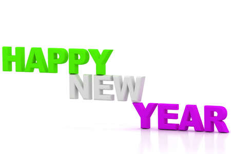 public celebratory event: 3d rendering of new year 2011
