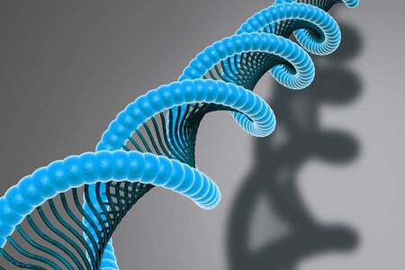 phosphate: Digital illustration of DNA in abstract background  Stock Photo
