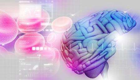 cerebra: Brain in abstract background  Stock Photo