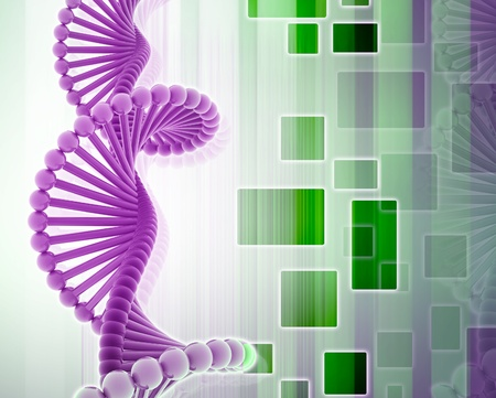 chemically: 3d dna in color background