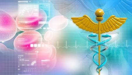 Symbol of medicine photo