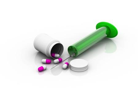 medicaments: Medicaments on white background.