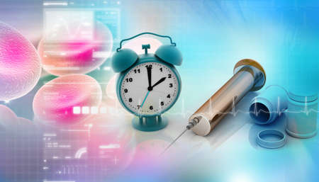 Medical equipments  In  abstract background. Stock Photo - 8948327