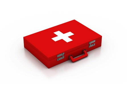 first aid kit: First aid kit. 3d