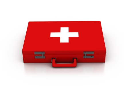 First aid kit. 3d  photo