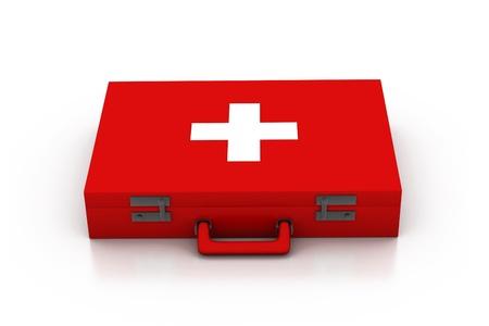 First aid kit. 3d  photo