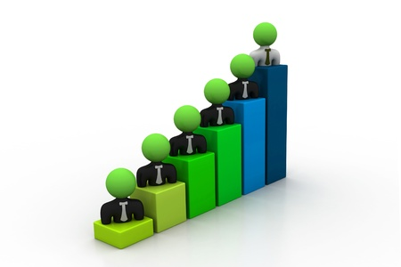 Business people, graph Stock Photo - 8959137