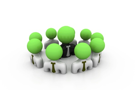 Business group with leader Stock Photo - 8959128