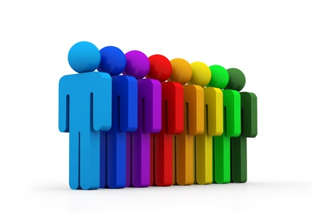 Group of people in line Stock Photo - 8959145