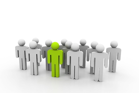 Social network people with leader Stock Photo - 8959090