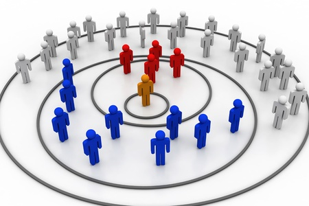 medium group of people: Business organisation  Stock Photo