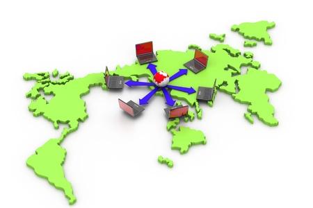 World Computer network Stock Photo - 8959292