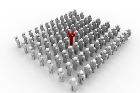 Stand Out From The Crowd Stock Photo - 8959407