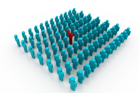Stand Out From The Crowd Stock Photo - 8959470