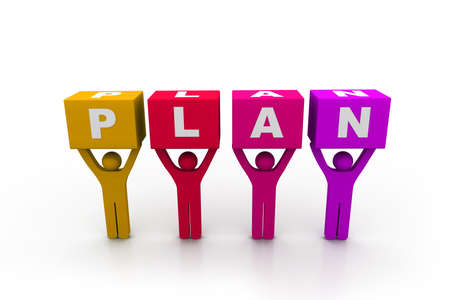 Plan concept Stock Photo - 8959181