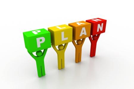 Plan concept Stock Photo - 8959228