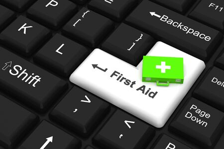 First aid key Stock Photo - 8960060