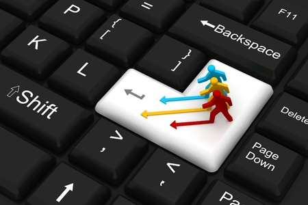 leadership key: Competition concept on enter key