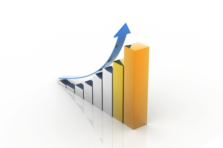 Business Graph With Upward diagram  photo
