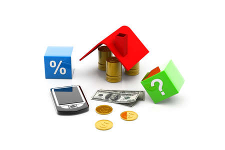 sale house and Europe currency Stock Photo - 8959741