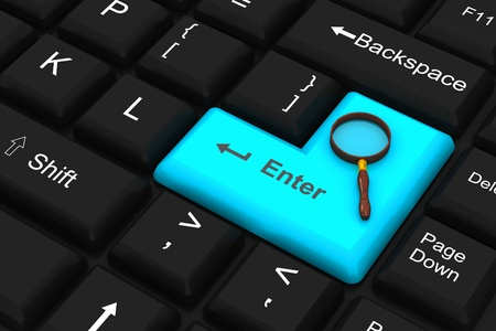 Computer Keyboard with search Stock Photo - 8969171