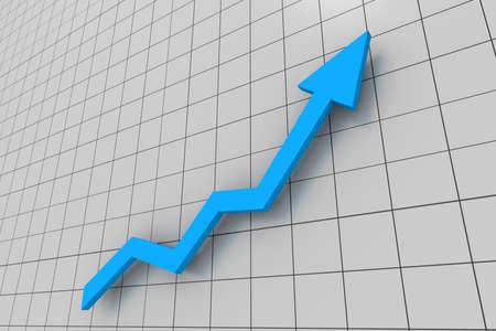 blue Business graph photo