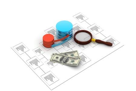 Database analyzing Stock Photo - 8969087