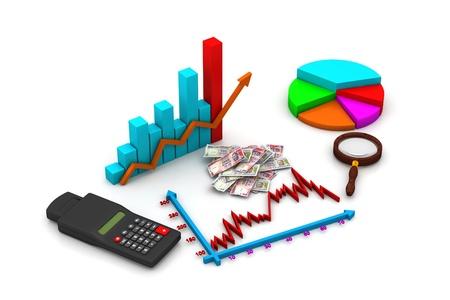 Financial graph analyzing photo