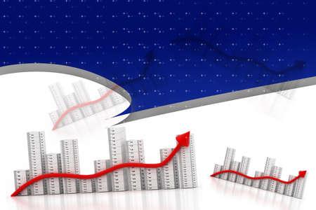 3d multi use business graph photo