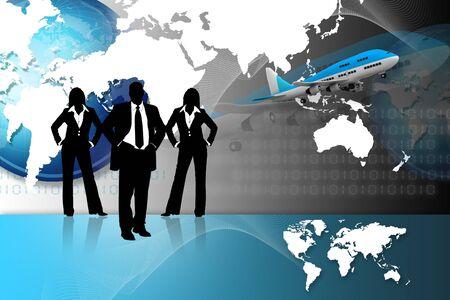 global market: Different business concept design