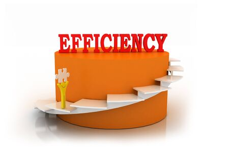 energy rating: 3d multi use efficiency in white background