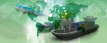 export and import: Actividades de negocios de transporte
