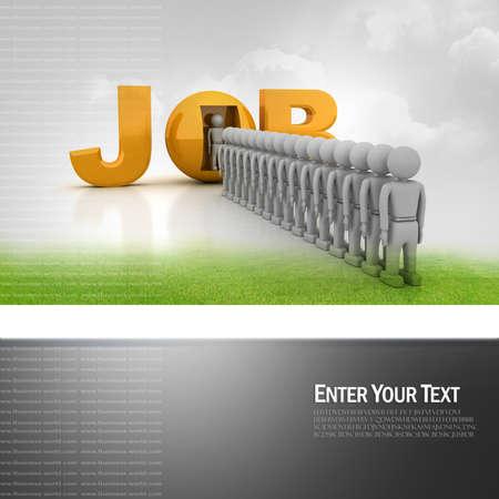queuing: World of job  Stock Photo