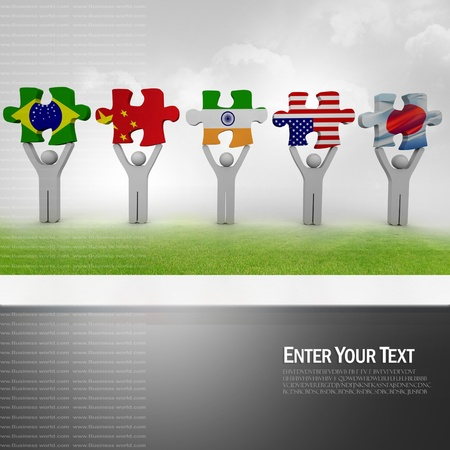 Country puzzle concept Stock Photo - 9145021