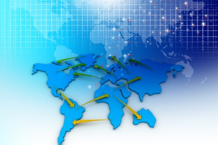 international sales: Trade networking. Business concept
