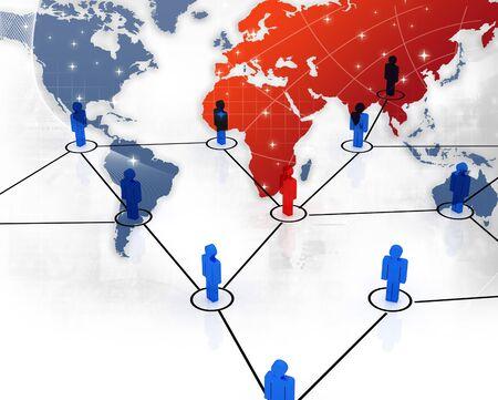 e recruitment: Business Network  Stock Photo