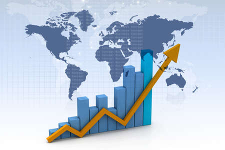 Business graph in abstract design photo
