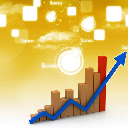 Business graph in abstract background Stock Photo - 9202924