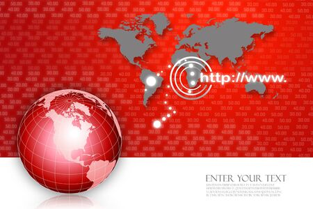 virtual world: Abstract business background  Stock Photo