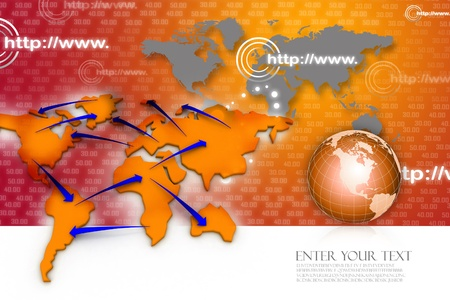 Trade networking. Business concept Imagens