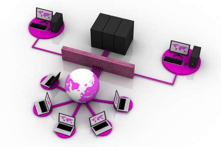 service sphere support web: Social network concept, internet concept