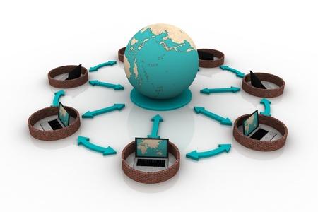 Global communication concept Stock Photo - 9216397