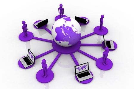 Global communication concept Stock Photo - 9206440